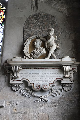 Sir William Lowther, 3rd Baronet - Memorial to Sir William Lowther in Cartmel Priory