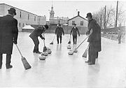 Men Curling in Ontario in 1909