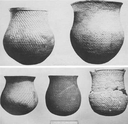 Mesa Verde Pueblo II corrugated jars