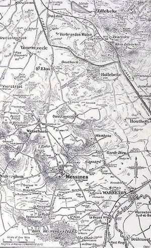 Battle of Messines (1917) - Image: Messines area 1917
