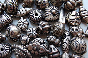 Photo of metal beads
