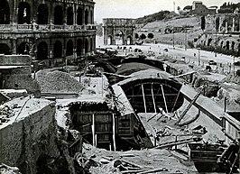 De bouwput in 1939