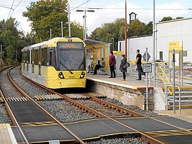 Metrolink Tram at Abraham Moss.jpg
