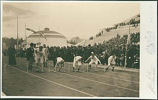 Preparation for the 100-meter race, Olympic Games