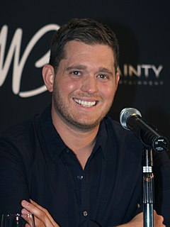 Michael Bublé Canadian singer, songwriter and actor