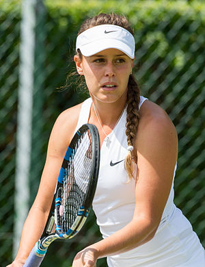 Michelle Larcher de Brito - Larcher de Brito at the 2015 Wimbledon<br/>qualifying tournament