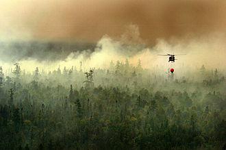 Michigan National Guard - Michigan National Guard conducting aerial firefighting near Tahquamenon Falls State Park