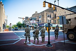 Michigan National Guard on the streets of Kalamazoo on June 2, 2020.jpg