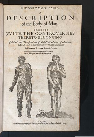 Helkiah Crooke - Title page of Microcosmographia
