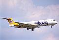 Midway Airlines Fokker 100; N106ML@DCA;20.07.1995 (5491348321).jpg