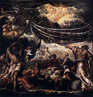 Miracle of the manna. Scuolo di San Roco