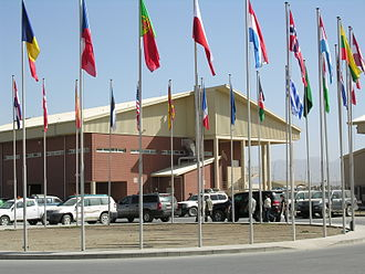 Kabul Province - NATO's military terminal at Kabul International Airport