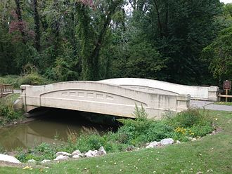 National Register of Historic Places listings in Berrien County, Michigan - Image: Mill Road Galien River Bridge (formerly the Avery Road Galien River Bridge) 01