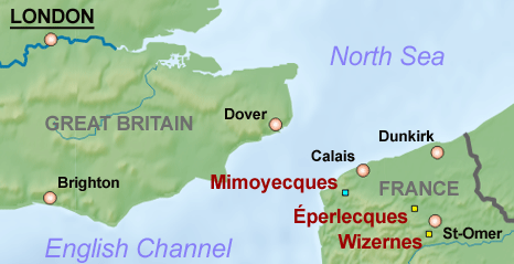 Mimoyecques-Eperlecques-Wizernes map