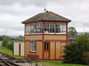 Minehead railway station - The signal box