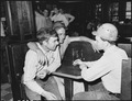 Miners in soda fountain. Inland Steel Company, Wheelwright ^1 & 2 Mines, Wheelwright, Floyd County, Kentucky. - NARA - 541505.tif