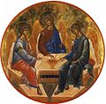 Miniature depiction of Andrei Rublev Trinity.jpg
