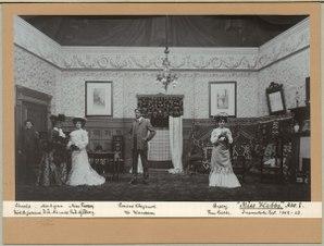 Miss Hobbs, Dramatiska teatern 1902. Föreställningsbild - SMV - H14 038.tif