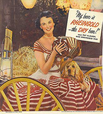 Rheingold Beer - Miss Rheingold 1949