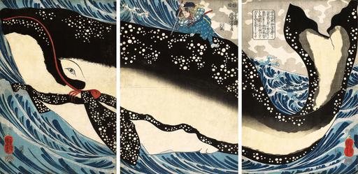 Miyamoto-Musashi-Attacking-Giant-Whale-Utagawa-Kuniyoshi