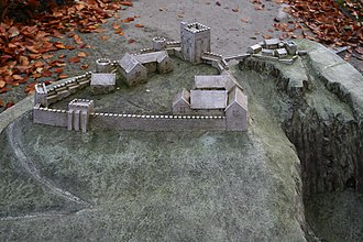 Peveril Castle - Image: Model of Peveril Castle