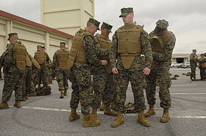 Modular Tactical Vest - Marines being issued the MTV at Camp Foster, Okinawa