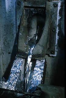 Casting (metalworking) Pouring liquid metal into a mold