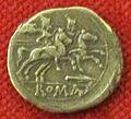 Monetiere di fi, moneta romana repubblicana con dioscuri 01.JPG