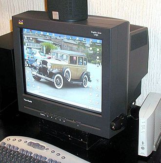 Strontium - CRT computer monitor front panel made from strontium and barium oxide-containing glass. This application used to consume most of the world's production of strontium.