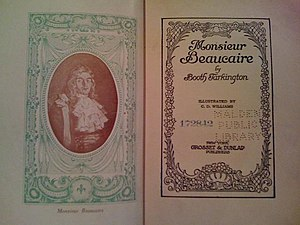 Monsieur Beaucaire (novel) - Frontispiece of an early edition