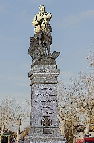Montech - Image: Montech Monument aux Morts