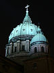 View at night of the dome of Mary, Queen of the World Cathedral