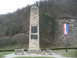 Monument to Croatian National Anthem.JPG