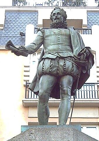 Памятник Мигелю де Сервантесу в Мадриде (1835)