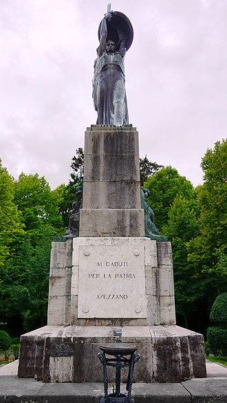 Ermenegildo Luppi - Image: Monumento ai Caduti Avezzano 30 settembre 2015