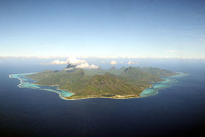 Mo'orea - Aerial view of Mo'orea