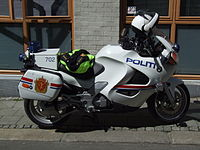Motorcycle of Police in Bergen.JPG