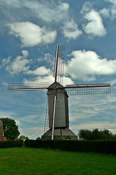 The Ondankmeulen (the thanklessness windmill) in Boeschepe, Nord department, France