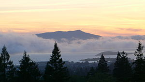 Mount Tamalpais - From Berkeley, across the bay, after a hot day.