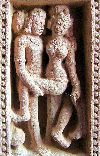 Kama Sutra - A sexual pose from Mukteswar Temple in Bhubaneswar, Odisha
