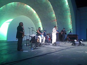 Levitt Shell - Musicians performing at the Levitt Shell in June 2011