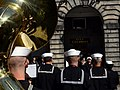 Musicians with the U.S. Naval Forces Europe Band perform for the Lord Lieutenant and Lord Provost of the City of Edinburgh David Wilson outside the city chambers building July 30, 2012, in Edinburgh, Scotland 120730-N-VT117-848.jpg