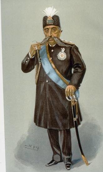 Mozaffar ad-Din Shah Qajar - Portrait of Shah Muzaffer-Ed-Din, 1903.