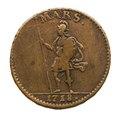 Nödmynt Mars, daler, 1718 - Skoklosters slott - 109269.tif