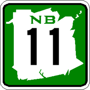 Numbered highways in Canada - Image: NB 11