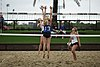 NCAA beach volleyball match at Stanford in 2016 (26448599636).jpg