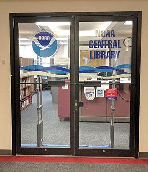 NOAA Central Library - NOAA Central Library front doors