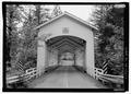 NORTH PORTAL, SOUTH BY 200 DEGREES - Short Bridge, Spanning South Santiam River at High Deck Road, Cascadia, Linn County, OR HAER OR-120-1.tif