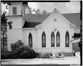 NORTH SIDE - Plains Baptist Church, Bond and Paschal Streets, Plains, Sumter County, GA HABS GA,131-PLAIN,14-3.tif