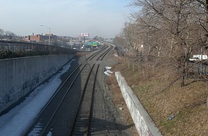 New York Connecting Railroad - Looking north from 37th Avenue